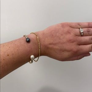Jewelry - Sterling silver and Pearl Cuff Bracelet